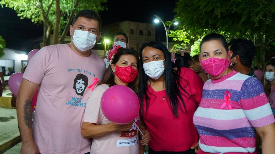 Secretaria de Saúde realiza 1ª caminhada alusiva ao Outubro Rosa